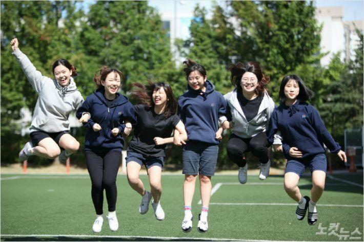 2012년부터 후드티를 교복으로 지정한 서울 한가람고. (사진=자료사진)