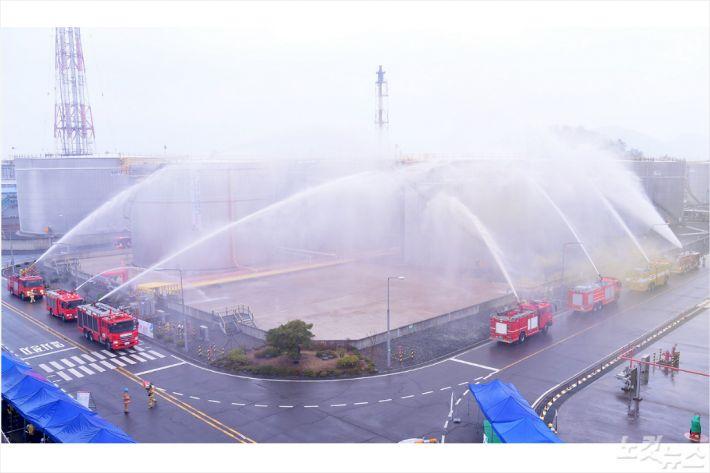 GS칼텍스 공장 폭발사고 가정 유관기관 훈련(사진=여수시)