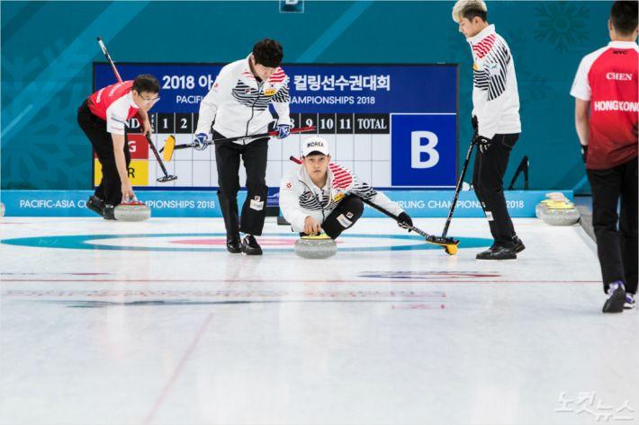 4강에 진출한 한국 남자팀. (사진=강릉시청 제공)