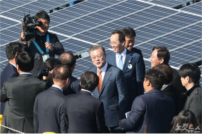 새만금 재생에너지 비전 선포식 자료사진(사진=전북도청 제공)