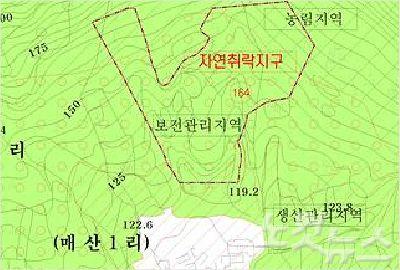 담양 대덕 매산 은퇴도시 지형도 (사진=담양 군청 제공)