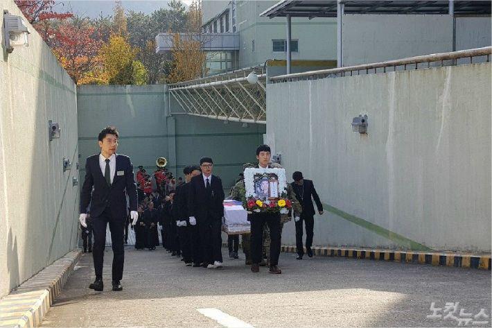 11일 오전 故윤창호씨의 발인이 진행되고 있다. (사진=부산CBS 박중석 기자)