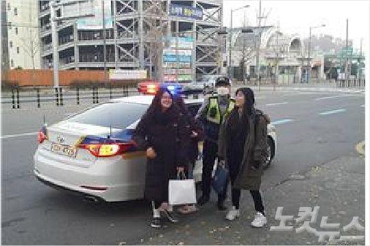 광주전남 경찰, 수능 수험생 긴급 수송 작전 '눈길'(종합)