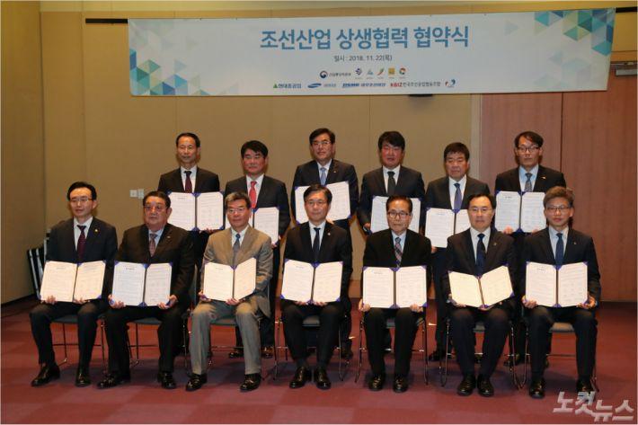 정부는 22일 국무총리 주재로 열린 정현안조정점검회의에서 조선산업 활력 제고 방안을 발표했다. (사진=울산시 제공)