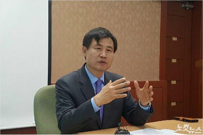 전북대학교 김동원 총장 임용 후보자(사진=도상진 기자)