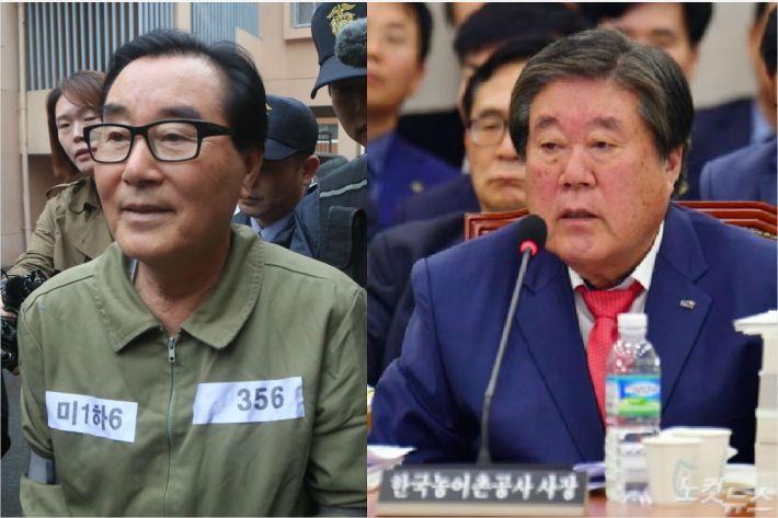 수뢰혐의를 받는 최규호 전 전북교육감(왼쪽)과 범인 도피 교사 혐의를 받는 최규성 전 한국농어촌공사 사장(오른쪽). (사진=자료사진)