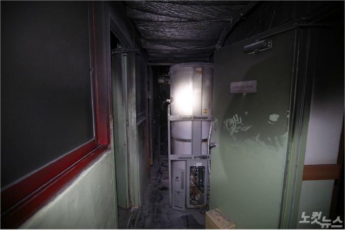 화재가 발생한 포항시 남구의 한 병원 내부 모습(사진=포항남부소방서 제공)
