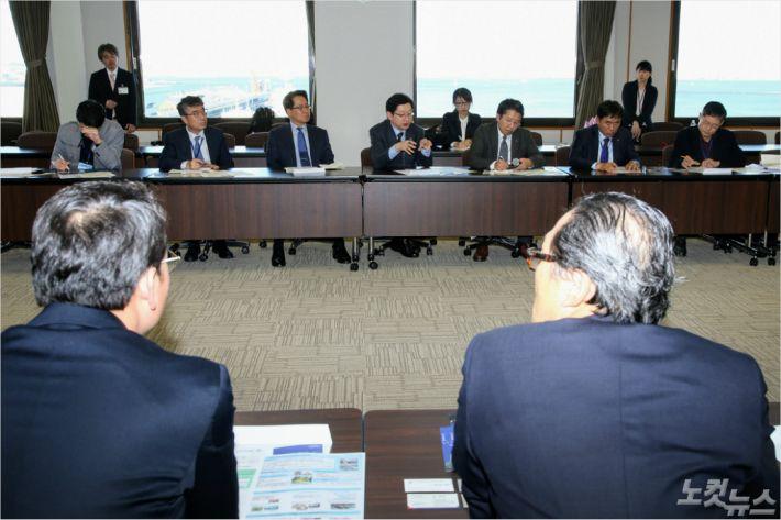 요코하마 기업경영지원재단 방문(사진=경남도청 제공)