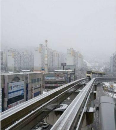 지난 3월 폭설에 멈춰선 대구도시철도 3호선 열차. (사진 출처=SNS)