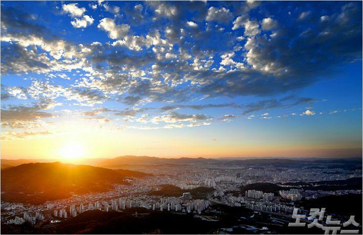 식장산에서 본 대전 전경. (사진=동구 제공)