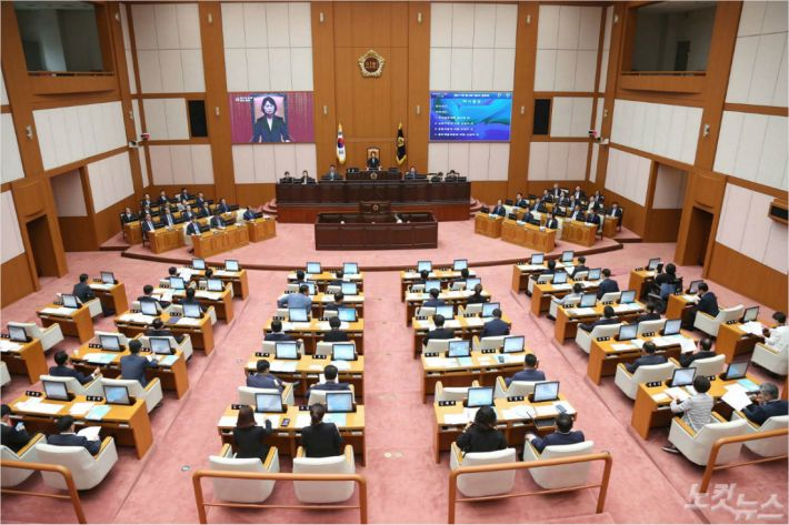 부산시의회 본회의장(=자료 사진)