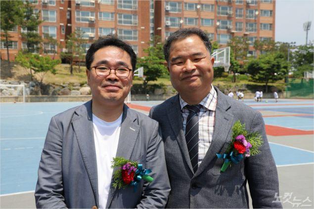대구둥지교회 신경희 목사(좌)와 곡강교회 김종하 목사(우) (사진=포항CBS)