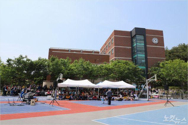 대구둥지교회와 곡강교회는 지난 2004년부터 5월마다 연합 야외예배를 드리며 사랑의 교제와 섬김을 실천하고 있다. (사진=포항CBS)