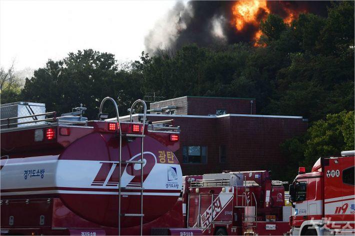 화재진압 자료사진