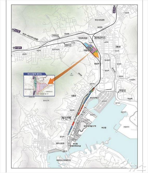 부산진구 범천 철도차량기지가 오는 2027년까지 부산신항으로 이전, 부산대개조 프로젝트 추진이 가속화할 전망이다. (부산 CBS)