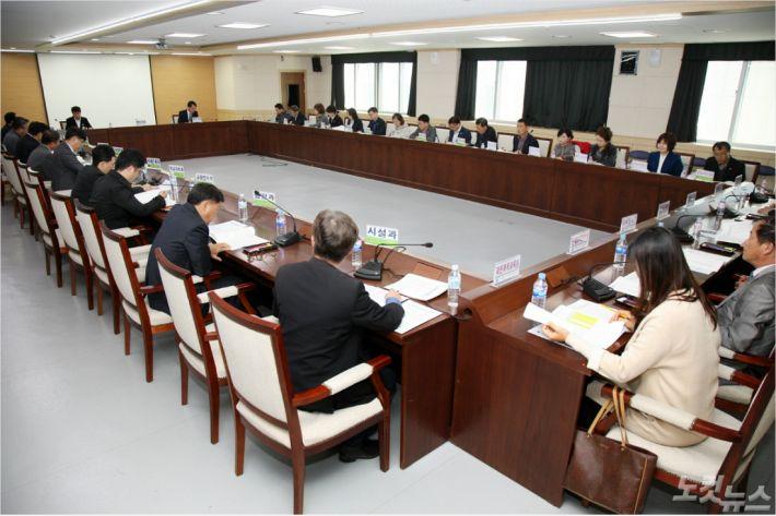 교육재정집행 강화 회의 (사진=충북도교육청 제공)