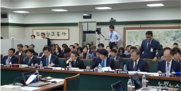 지난 10월 21일 진행된 국회 교육위원회의 전남대병원 국정감사(사진=박요진 기자)