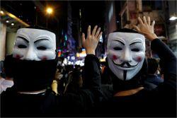 """중국 전인대 """"홍콩 고법, 복면금지법 위헌 판결 권한없어""""…후속조치 경고"""