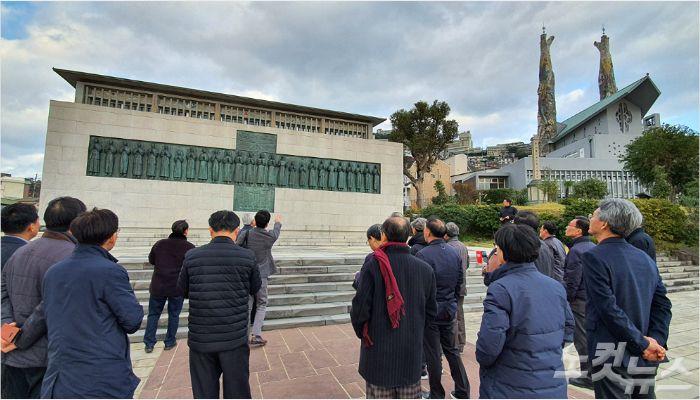 니시자카 공원에 위치한 일본 26성인 기념박물관.