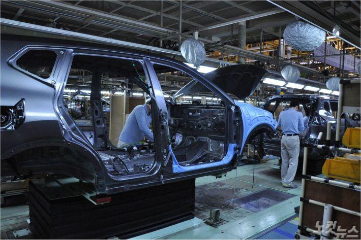 르노삼성 부산공장의 자동차 생산 모습 (사진 = 자료사진)