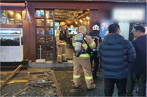 창원 식당서 부탄가스 폭발…4명 부상