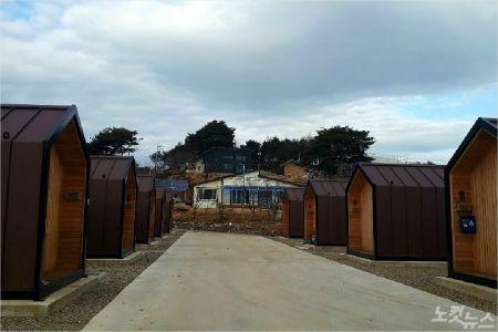 속초 장천마을에 조립식 주택이 모여 있다. (사진=유선희 기자)