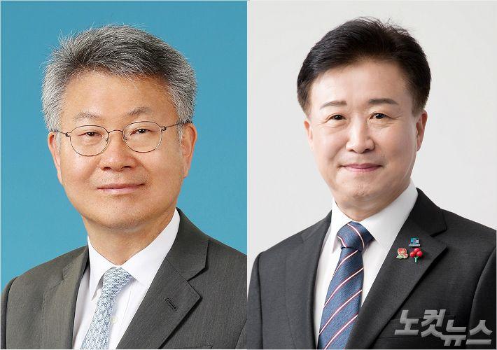"""김회재 """"상포·웅천 사건 연루"""" vs 정기명 """"수산시장 수임료 밝혀라"""""""