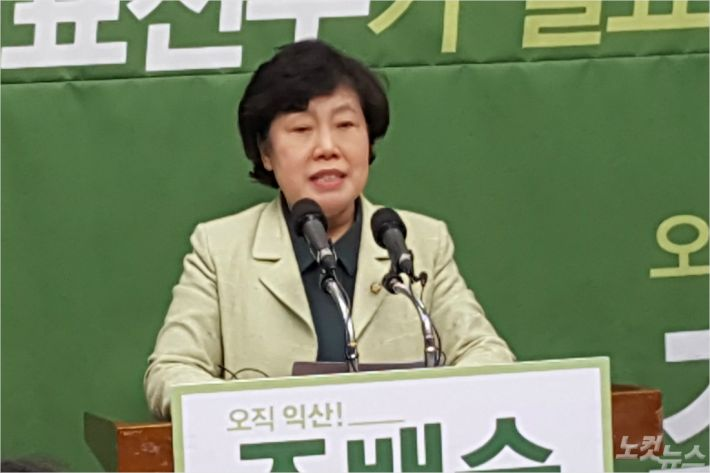 24일 총선 출마를 선언한 민주평화당 조배숙 예비후보(전북 익산을) (사진=김용완 기자)