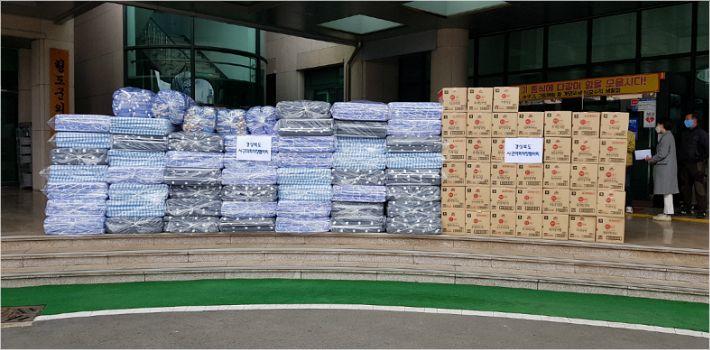 경북시군의회의장협, 코로나19 극복 지원물품 청도군 전달