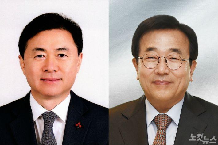 더불어민주당 김영춘 의원(좌), 미래통합당 서병수 전 부산시장(우). (자료사진)
