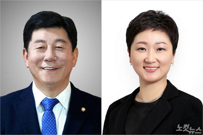 더불어민주당 박재호 의원(좌), 미래통합당 이언주 의원(우). (자료사진)