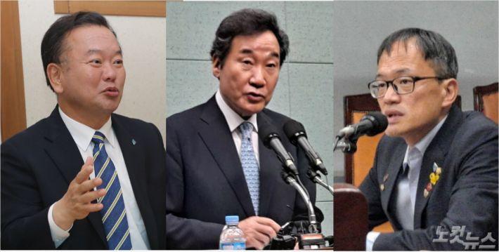 6일 전북을 방문한 민주당 당대표 후보,김부겸(좌), 이낙연(중), 박주민(우)