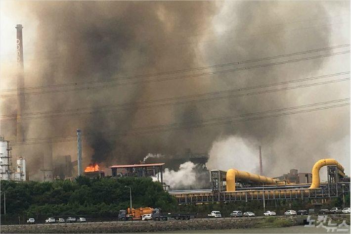 지난 7월 정전사고가 발생한 포스코 광양제철소 모습(사진=자료사진)