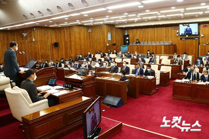 강원도의회 본회의 장면.   강원도의회 제공
