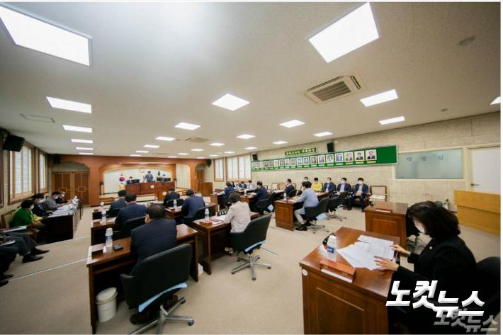 참여자치전북시민연대  의정활동 실태조사에서 최하위로 평가된 김제시의회. 김제시의회 홈페이지 캡처