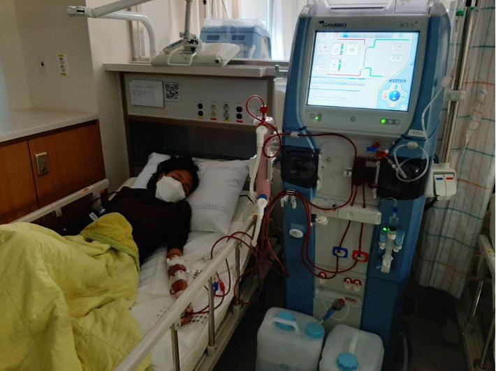 삼성병원에서 투석중인 캄보디아인 꼰티(사진제공=성현교회)
