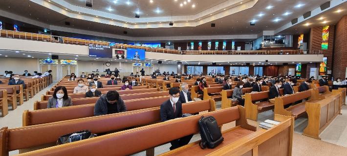 제주영락교회에서 열린 제주시기독교연합회 주최 2021부활절연합예배