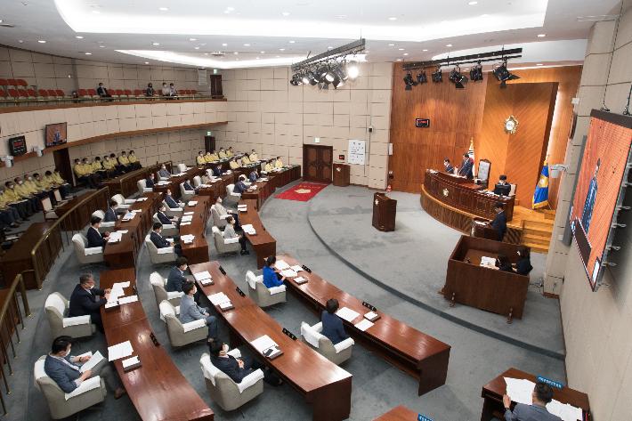 군산시의회 본회의장. 군산시의회 제공