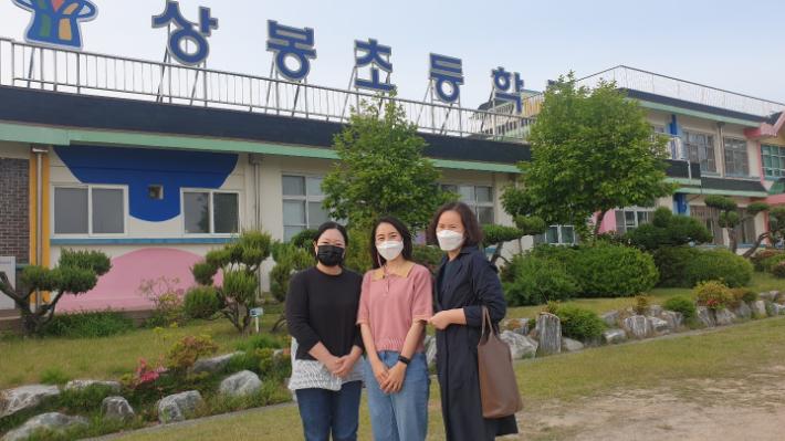 오른쪽부터 김영이 리포터, 상봉초 병설유치원 김민선 교사, 학부모 여수양씨. 이수복 PD
