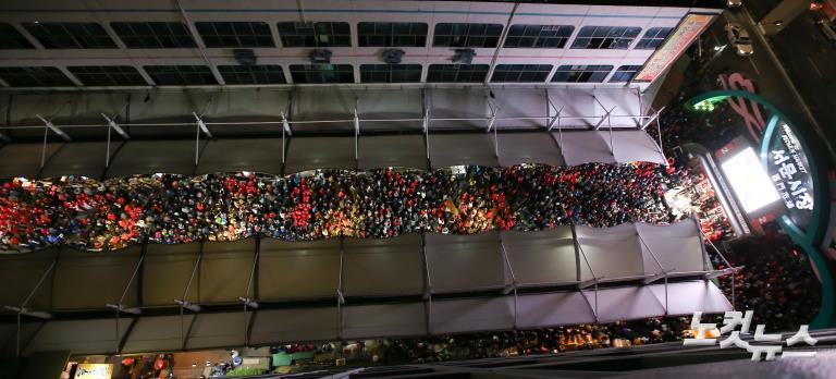 자유한국당 홍준표 대선 후보, 대구 서문시장 거점 유세