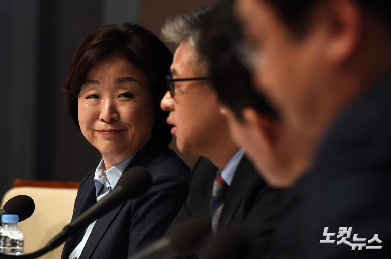 정의당 심상정 대선후보 초청 관훈토론회