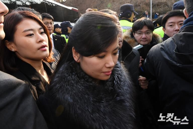 북한 예술단 사전점검단, 황영조기념체육관 방문