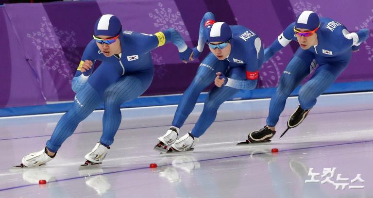 스피드 스케이팅 남자 팀추월, 뉴질랜드 꺾고 결승 진출