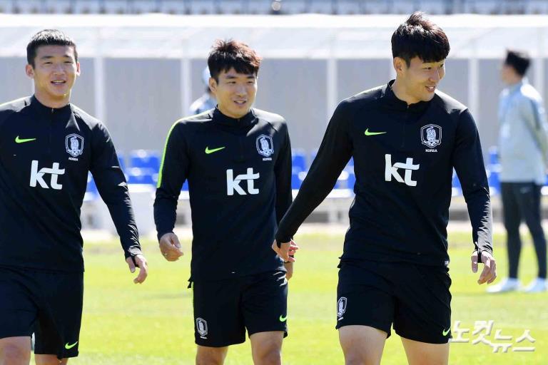 2018 러시아월드컵 훈련하는 태극전사들