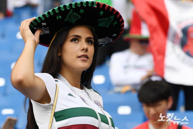 시작된 대한민국-멕시코 응원전
