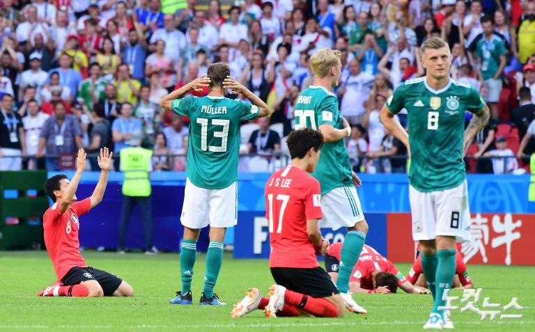 독일 꺽고 유종의 미 거둔 축구대표팀