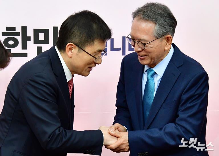 자유한국당 황교안 대표-김형오 공천관리위원장 첫 회동
