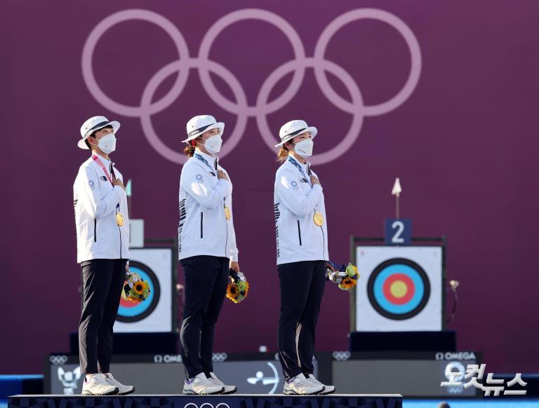 '세계 최강 양궁' 여자 단체전 올림픽 9연패