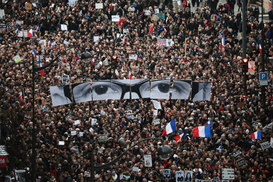 """프랑스 테러 규탄 '역대 최대 370만' 시위…""""나는 샤를리"""""""