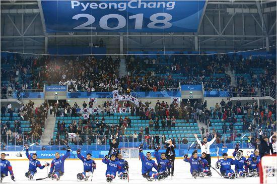국민의 함성이 만든 韓 장애인 아이스하키의 값진 메달